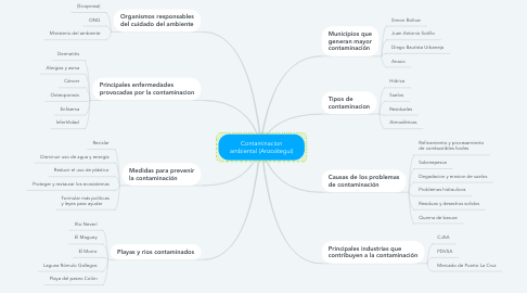 Mind Map: Contaminacion ambiental (Anzoátegui)