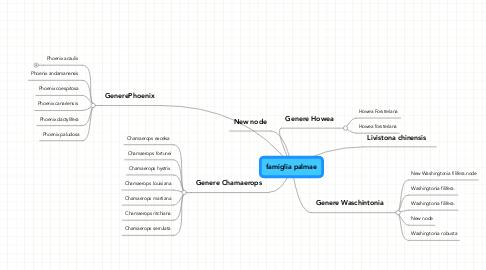 Mind Map: famiglia palmae