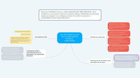 Mind Map: NIA 300 PLANIFICACIÓN DE LA AUDITORÍA DE ESTADOS  FINANCIEROS