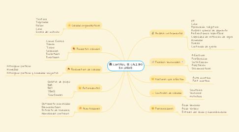 Mind Map: CONTROL DE CALIDAD EN CARNE