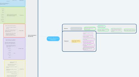 Mind Map: Modelos ¿Educativo ó Pedagógico?