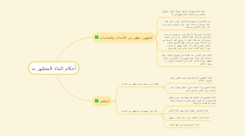Mind Map: أحكام الماء المتطهر به