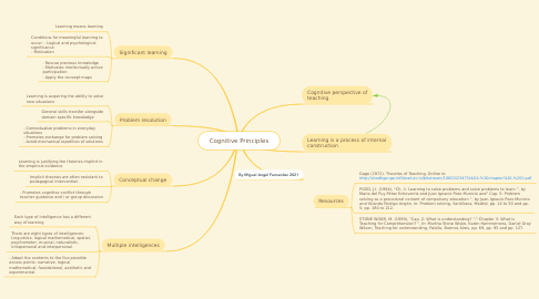 Mind Map: Cognitive Principles