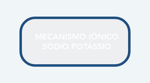Mind Map: MECANISMO IÔNICO SÓDIO POTÁSSIO