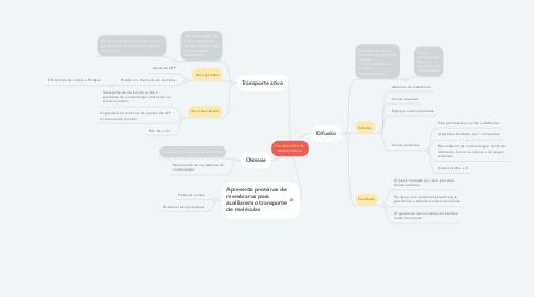 Mind Map: TRANSPORTE DE MEMBRANAS
