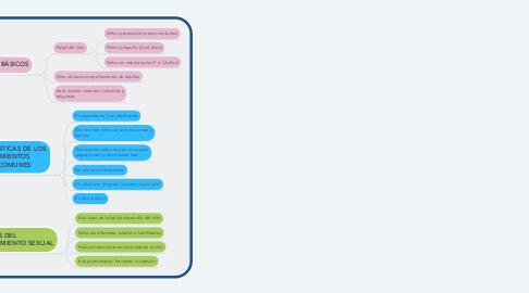 Mind Map: DESARROLLO SEXUAL Y CONDUCTA EN LOS NIÑOS