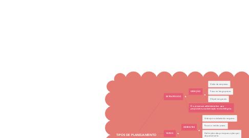 Mind Map: TIPOS DE PLANEJAMENTO