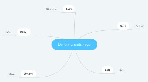 Mind Map: De fem grundsmage