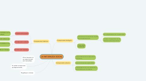 Mind Map: LA NATURALEZA SOCIAL