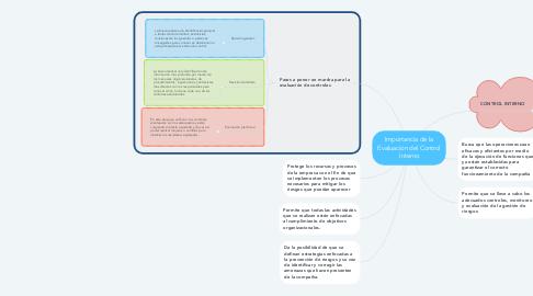 Mind Map: Importancia de la Evaluación del Control Interno