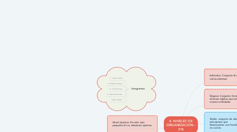 Mind Map: 4- NIVELES DE ORGANIZACIÓN - 3ºB