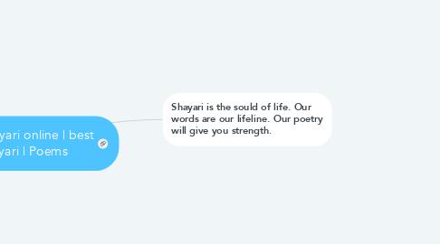 Mind Map: love shayari online | best shayari | Poems