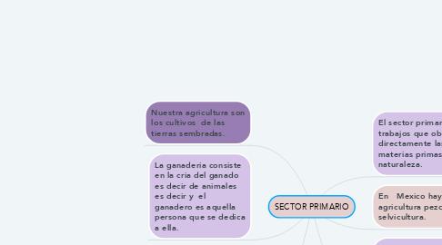 Mind Map: SECTOR PRIMARIO