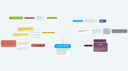 Mind Map: ENFOQUE CURRICULAR (Transformación Educativa)