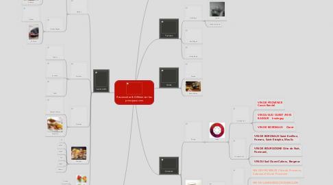Mind Map: Reconnaître & Différencier les principaux vins