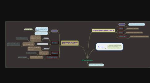 Mind Map: Bienes Nacionales