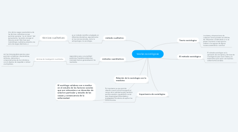 Mind Map: teorías sociológicas