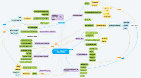 Mind Map: BIG DATA ANALYSIS AND NEW BUSINESS OPPORTUNITIES