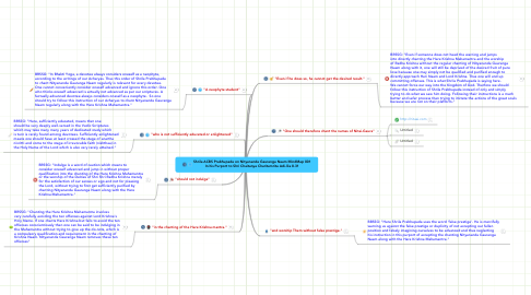 Mind Map: Shrila ACBS Prabhupada on Nityananda Gauranga Naam MindMap 001 In his Purport to Shri Chaitanya Charitamrita Adi-lila 8.31