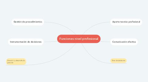 Mind Map: Funciones nivel profesional