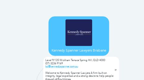 Mind Map: Kennedy Spanner Lawyers Brisbane