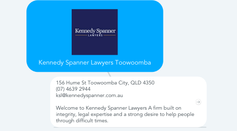 Mind Map: Kennedy Spanner Lawyers Toowoomba