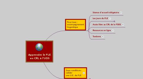 Mind Map: Apprendre le FLE  en CRL à l'UDS