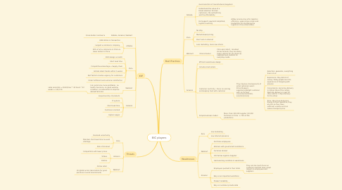 Mind Map: BIC players