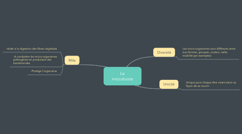 Mind Map: Le microbiote