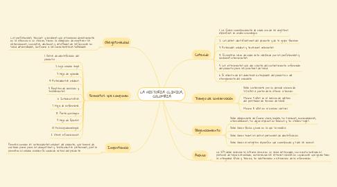 Mind Map: LA HISTORIA CLINICA, COLOMBIA