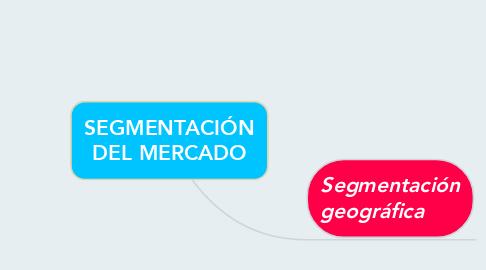 Mind Map: SEGMENTACIÓN DEL MERCADO