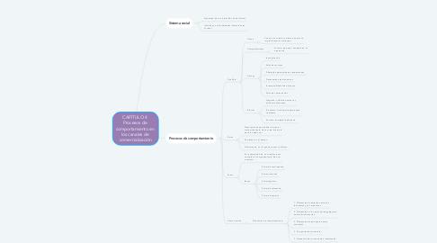 Mind Map: CAPÍTULO 4  Procesos de  comportamiento en  los canales de  comercialización