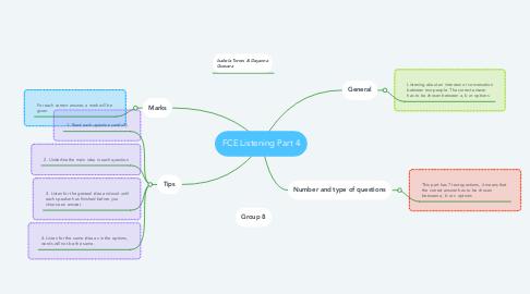 Mind Map: FCE Listening Part 4