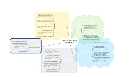 Mind Map: recursos naturales y contaminación