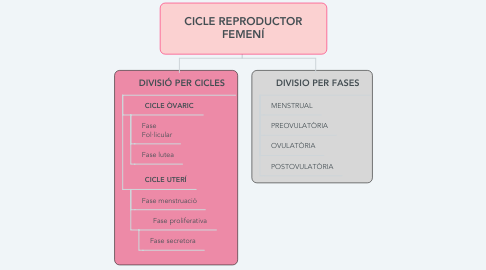 Mind Map: CICLE REPRODUCTOR FEMENÍ