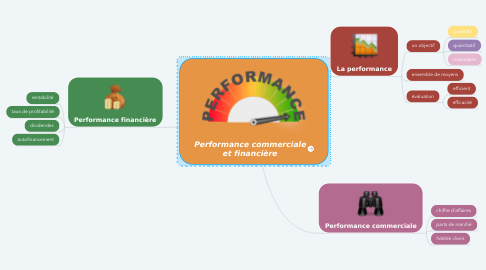 Mind Map: Performance commerciale et financière
