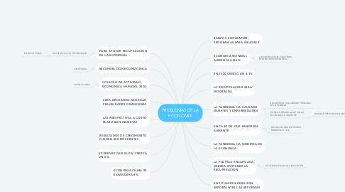 Mind Map: PROBLEMAS DE LA ECONOMÍA
