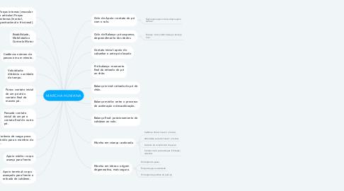 Mind Map: MARCHA HUMANA