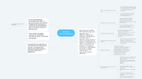 Mind Map: ANÁLISIS COSTO-BENEFICO