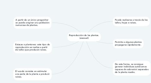 Mind Map: Reproducción de las plantas. (asexual)