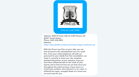 Mind Map: PINCUS LAW FIRM