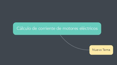 Mind Map: Cálculo de corriente de motores eléctricos