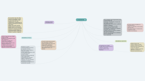 Mind Map: DESARROLLO VISUAL Y AUDITIVO