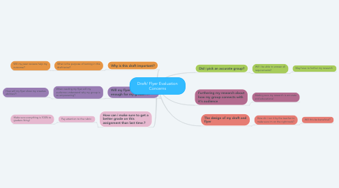 Mind Map: Draft/ Flyer Evaluation Concerns