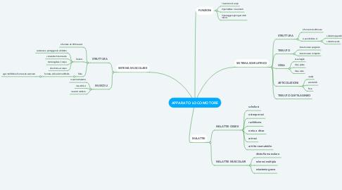 Mind Map: APPARATO LOCOMOTORE