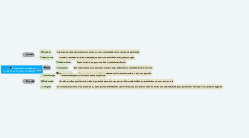 Mind Map: 📲💻A importância da internet:  A vida do ser humano na pandemia 😷🤒