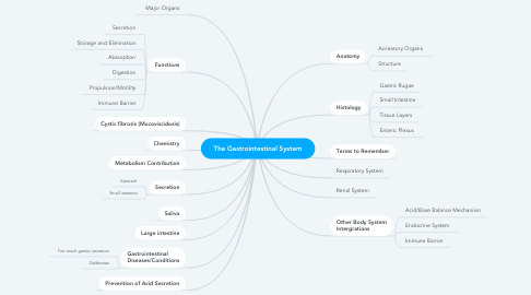 Mind Map: The Gastrointestinal System