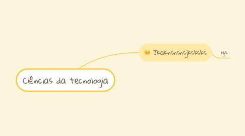 Mind Map: Ciências da tecnologia
