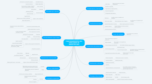 Mind Map: FUNCIONAMIENTOS DEL SIMULADOR DE NEGOCIOS BSG
