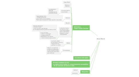 Mind Map: Acto Moral